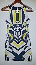 Atmosphere Ladies Black/White/Yellow bodycon strap sleeveless Size 10 / EU 38