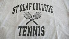 ST. OLAF COLLEGE TENNIS XL GRAY T-SHIRT MADE IN USA