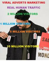 Viral Marketing Direct Adverts 1 Million Real Human Visitors Boost Google