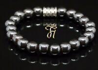 Hämatit Hematit Armband Bracelet Perlenarmband Buddha 8mm