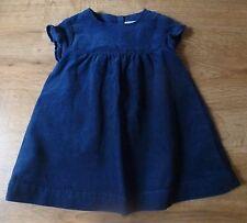 Cyrillus***Robe/Dress Velours côtelé 6 mois Automne/Hivers Coton Bleu marine