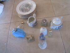 AVON COLLECTABLES, Plates, bell, bottles, sugar bowl and etcs, new and old