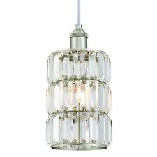 Beautiful Chandelier Lamp With 1 Lamp Kristallprismenglas Nickel Brushed
