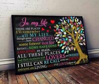The Beatles In My Life There Are Places I'll Remember Landscape Poster No Frame