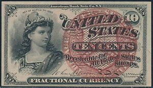 FR1257 10¢ AU FRACTIONAL CURRENCY BS630