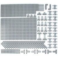 Lego 133x Genuine Technic Medium Stone Grey Studless Beams Liftarms Bricks NEW