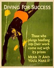 20x24 Out of the Running  1920s Mather Business Horse Race Motivational Poster