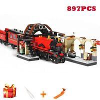 Harry Movie Potter Hogwarts Train Building Block Brick Toy Gift Boy Children Kid