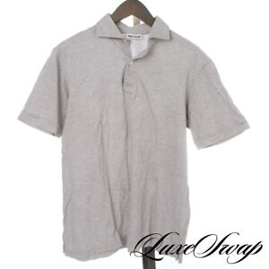#1 MENSWEAR LNWOT The Armoury x Ascot Chang Cement Grey Pique Polo Shirt L NR