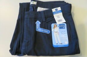 Womens LEE RIDERS - Plain Front - Comfort Waist - NAVY - Size 10M Stretch - NWT