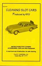 CLEANING MODEL SLOT CARS BOOKLET RFG107SC