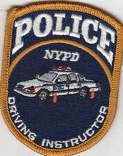 DRIVING INSTRUCTOR NEW YORK POLICE PATCH NY