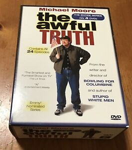 The Awful Truth - The Entire Series 4-Disc DVD set ~ Michael Moore seasons 1 & 2
