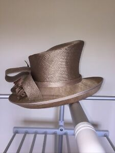 Top Quality Stylish Taupe Wedding/Races Hat By Whiteley