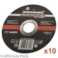 "10 x Ultra Thin Metal Cutting Discs 115mm 4.5"" 4 ½ "" Angle Grinder Slitting New"