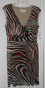 Studio I Multi Color Knit Dress Size Medium NWT