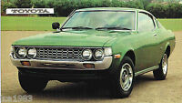 TOYOTA CELICA(ST)SPEC SHEET/Brochure/Catalog:1971,1972,