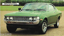 TOYOTA CELICA(ST)SPEC SHEET/Brochure/Catalog:1971,1972,