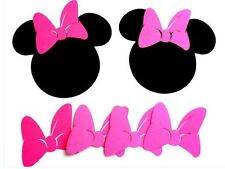 20 Die Cut Minnie Mouse Heads w/ Bow Pink ( 5 inch) (1015E)
