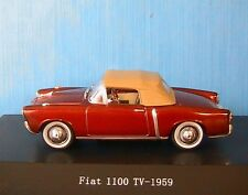 FIAT 1100TV DARK RED METALLIC 1959 STARLINE 526036 1/43 SOFT TOP CAPOTE