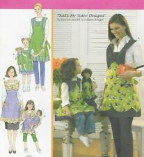 Matching aprons toSEW PATTERN Simplicity 3746 fits AG 18inch doll girl miss mom