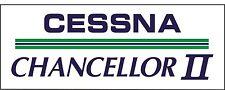 A093 Cessna Chancellor II Airplane banner hangar garage decor Aircraft signs