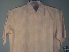Geoffrey Beene SS Shirt White Red Gray L Mens New NWT