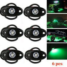 6X Green CREE LED Rock Light JEEP Offroad Truck Boat Under Body Trail Rig Light