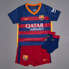 NIKE FC BARCELONA 2015/ 2016 BABY HOME FOOTBALL KIT NEW 658684 6-9 MONTHS OF AGE