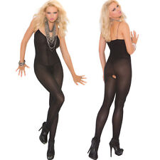 cb2468603c5 Plus Size Lingerie One Sz Queen Black Nude or White Opaque Bodystocking  EM1601Q