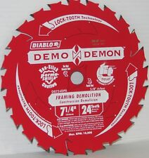 "Freud Diablo D0724D Demo Demon 7-1/4"" 24T Carbide Circ Saw Framing Blade"