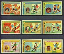 s5167) GUINEA ECUATORIAL 1974 MNH** WC Football -Coppa Mondo Calcio 9v IMPERF