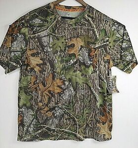 Mossy Oak Obsession Turkey Thugs Camo T-Shirt Short Sleeve Mens Size L 42-44 NEW