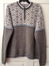 Hanna Andersson Mens L 100% Cotton Nordic Sweater 1/4 Zip Up