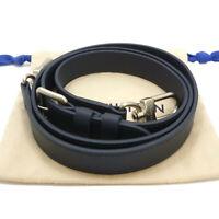 Authentic LOUIS VUITTON Adjustable Shoulder Strap Navy Leather #S401037