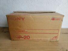 10 Sony Video Cassettes Ksp-20 U-Matic Case x 10 Nos