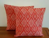 "14"" 16"" 18"" New Cushion Cover Red Beige John Lewis Fabric ""Mila"" Handmade"