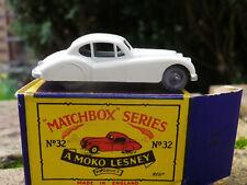 MATCHBOX LESNEY MOKO 32 JAGUAR XK 140 axe de roue pincé neuf en boite d'origine