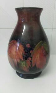 Moorcroft pottery huge  leaf and BlackBerry flambe vase
