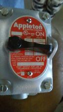 """New Appleton 28-350 2-Pole 20Amp Front Operated Tumbler Switch 1/2"""" EDS Series"""