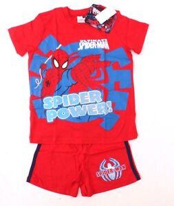 Marvel Spider-Man Kids Boys Red Sleepwear 2 Piece Set Sizes 4/5 5/6 6/7 YRS NWT