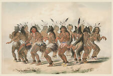 George Catlin's Indian Gallery: The Buffalo Dance - Fine Art Print
