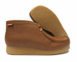 NEW CLARKS STINSON HI TAN LEATHER WALLABEE STYLE BOOTS RUBBER SOLE SHOES 29528
