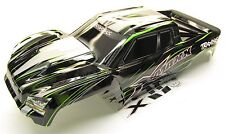 X-MAXX BODY cover Shell (Green Factory Painted ProGraphics New Traxxas 77086-4