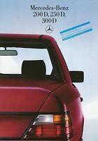 1519MB Mercedes 200D 250D 300D 124 Prospekt 1985 8/85 brochure prospectus Auto