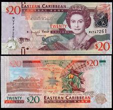 EAST CARIBBEAN STATES 20 DOLLARS (P53) (2012) QEII UNC
