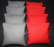 CORNHOLE BEAN BAGS Dark Gray and Red 8 ACA Regulation Corn Hole Game Bags