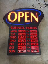 Newon Led Lighted Business Open Sign Electronic Black, 2 Light Modes, Works