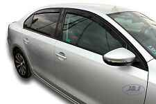 Wind deflectors 4pc set TINTED HEKO for VW JETTA mk4 saloon 2011-up TINTED
