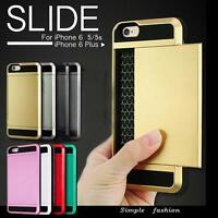 Card pocket Hard Back Wallet Bumper case cover for Apple iPhone 8 Samsung Galaxy